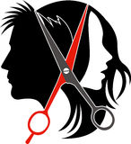 Salon concept logo. Illustration art of salon concept logo on isolated background Stock Photo