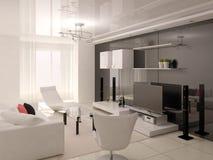 Salon confortable fonctionnel illustration libre de droits