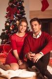 Salon décoré pour Noël Photo stock