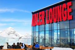 Salon d'Adler de restaurant de gorumet de la plus haute montagne du ` s de l'Autriche Photographie stock libre de droits