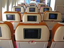 Salon d'avion photos stock
