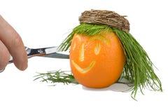 salon d'orange de cheveu de poupée Image stock