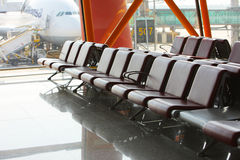 Salon d'un aéroport Photographie stock libre de droits