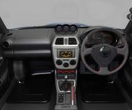 Salon d'une voiture de sport Le tableau de bord et ses différentes pièces illustration 3D illustration de vecteur