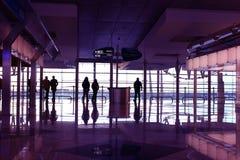 Salon dans l'aéroport photographie stock libre de droits