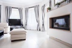 Salon dans la résidence de luxe photo stock