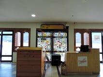 Salon de attente à l'aéroport de Paro, Bhutan Photo stock