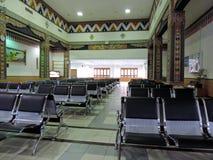 Salon de attente à l'aéroport de Paro, Bhutan Images stock