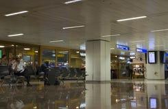 Salon de attente dans l'aéroport international de Guarulhos Photographie stock