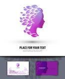 Salon de beauté Logo, icône, emblème, calibre, Photographie stock libre de droits
