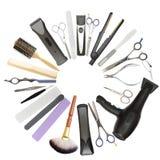 Salon de beauté et fond de raseur-coiffeur Photo libre de droits