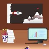 Salon de bureau d'espace de travail et intérieur moderne de fond de bureau illustration de vecteur