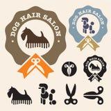 Salon de cheveu de crabot Photos stock