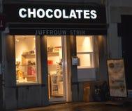 Salon De Chocolates在市中心在跟特, 2017年11月5日的比利时 免版税库存图片