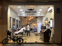 Salon de coiffure élégant, Tel Aviv, Israël Image stock