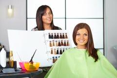 Salon de coiffure.   Image libre de droits