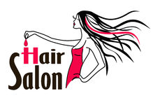 Salon de coiffure Logo Icon Images stock