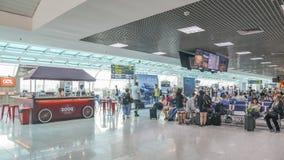 Salon de départ chez Rio de Janeiro, ` s Santos Dumont Airport du Brésil entretenant des vols domestiques Images stock