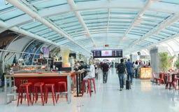 Salon de départ chez Rio de Janeiro, ` s Santos Dumont Airport du Brésil entretenant des vols domestiques Photo libre de droits
