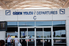 Salon de déviation à l'aéroport à Antalya, Turquie Images libres de droits