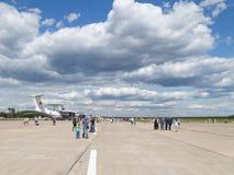 Salon de l'aéronautique à l'aérodrome Kubinka Photographie stock libre de droits