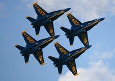 Salon de l'aéronautique d'anges bleus Photographie stock
