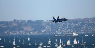 Salon de l'aéronautique d'anges bleus Images libres de droits