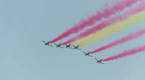 Salon de l'aéronautique 2014 de Rome Image stock