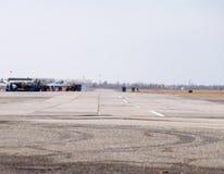 Salon de l'aéronautique en l'honneur du défenseur de la patrie La piste pour des chasseurs Photo stock