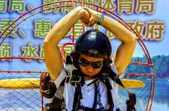 Salon de l'aéronautique international de Paramotor photo stock