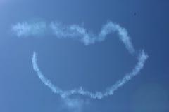 Salon de l'aéronautique, lèvres dans le ciel Photo libre de droits