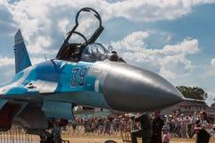 Salon de l'aéronautique 2013, Radom le 30 août 2013 Photo libre de droits