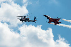 Salon de l'aéronautique 2013, Radom le 30 août 2013 Photo stock