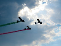 Salon de l'aéronautique tricolore de flèches Tirrenia, Pise, Italie, le 11 septembre, 2 Photo libre de droits