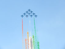 Salon de l'aéronautique tricolore de flèches Tirrenia, Pise, Italie, le 11 septembre, 2 Image stock