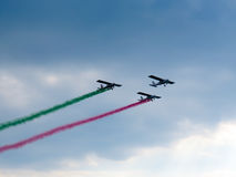Salon de l'aéronautique tricolore de flèches Tirrenia, Pise, Italie, le 11 septembre Photos stock