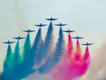 Salon de l'aéronautique tricolore de flèches Tirrenia, Pise, Italie, le 11 septembre, 2 Photographie stock