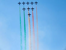 Salon de l'aéronautique tricolore de flèches Tirrenia, Pise, Italie, le 11 septembre, 2 Images stock