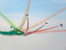 Salon de l'aéronautique tricolore de flèches Tirrenia, Pise, Italie, le 11 septembre, 2 Photos libres de droits