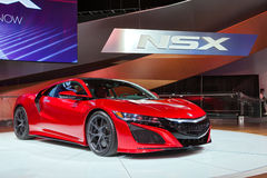 Salon de l'Auto 2016 d'Acura NSX Detroit Photos stock