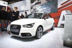 Audi A1 dans le Salon de l'Automobile de Bologna Photos libres de droits