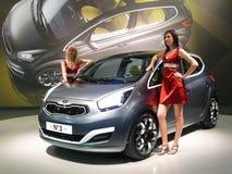Salon de l'Automobile de Brno - numéro 3 de Kia Photo stock