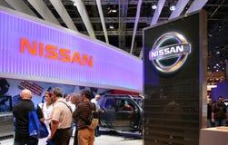 Salon de l'Automobile de Paris 2010 - Nissans restent Photographie stock libre de droits