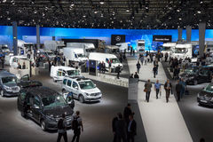 Salon de l'Automobile international pour les véhicules utilitaires Images libres de droits