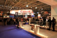 The Salon de la Photo exhibition in Paris Royalty Free Stock Photos