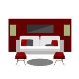 Salon de meubles de couleur Image stock