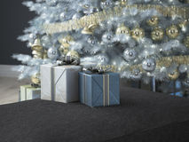 Salon de Noël rendu 3d Images libres de droits