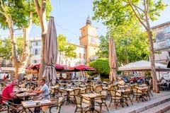 Salon de Provence stad i Frankrike royaltyfri bild