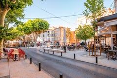 Salon de Provence stad i Frankrike royaltyfri fotografi