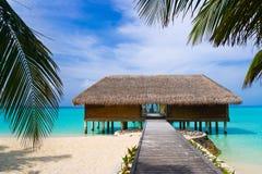 Salon de station thermale sur la plage Image stock